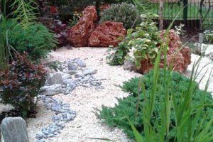 ogródek japoński kraków kamień grys rośliny